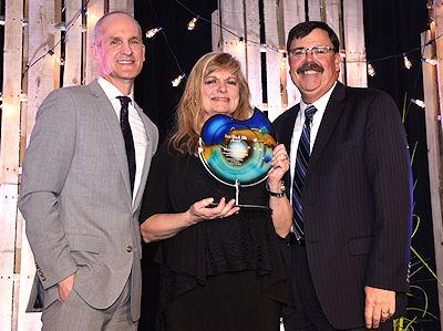 Photo of Jim Hagen, Maureen Droz and Lt. Gov. Matt Michels